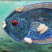 Картина. Рыба кружевная