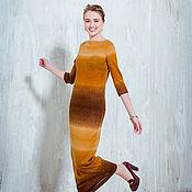 Одежда ручной работы. Ярмарка Мастеров - ручная работа Африканский закат - трикотажное платье. Handmade.
