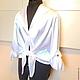 Elegance XS, s, M ,L ,XL blouse / satin, white, Blouses, Moscow,  Фото №1