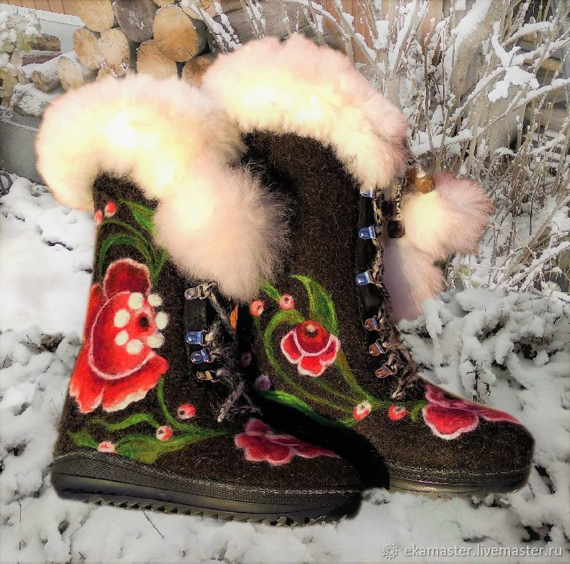 Boots women 'the Night before Christmas ', Felt boots, Ekaterinburg,  Фото №1