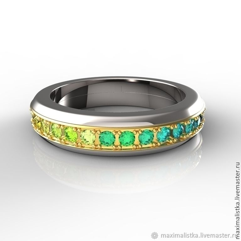 Ring SWiVEL SAPPHIRES Multicolor, Rings, Moscow,  Фото №1