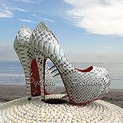 Shoes handmade. Livemaster - original item Louboutins from Python LOUBOUTINN. Handmade.