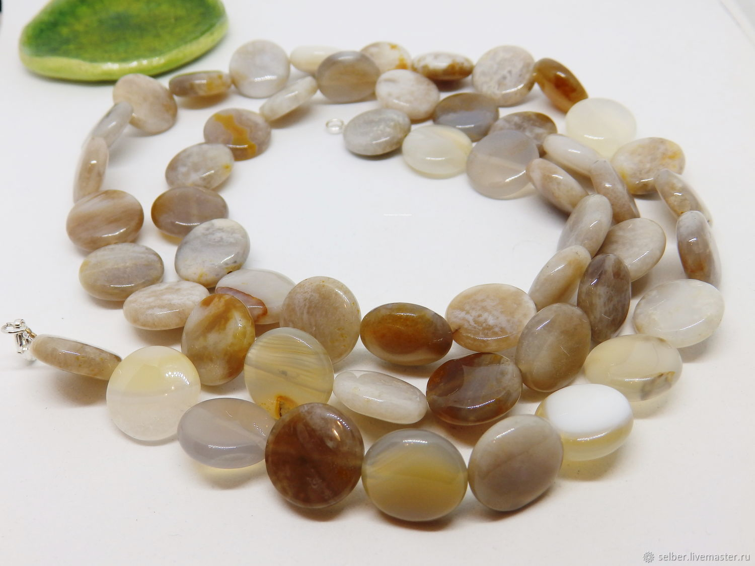 Latte Beads for Ladies (agate, chalcedony) 88 cm, Beads2, Gatchina,  Фото №1