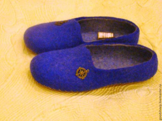 Обувь ручной работы. Ярмарка Мастеров - ручная работа. Купить Мужские тапки Тапочки валяные. Handmade. Тапки валяные