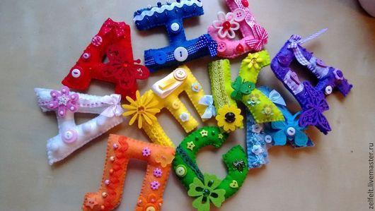 Детская ручной работы. Ярмарка Мастеров - ручная работа. Купить буквы из фетра. Handmade. Буквы, фетр