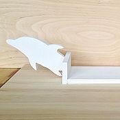 """Для дома и интерьера ручной работы. Ярмарка Мастеров - ручная работа Полка для книг """"Играющий дельфинчик"""". Handmade."""