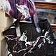 """Женские сумки ручной работы. """"Сова"""" большая сумка на молнии и палантин валяный комплект. Юлия Хорошавина. Ярмарка Мастеров."""