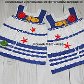 Работы для детей, handmade. Livemaster - original item dress for girl of the Sea adventure ed.work. Handmade.