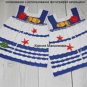 Работы для детей, ручной работы. Ярмарка Мастеров - ручная работа платье для девочки Морские приключения авт.работа. Handmade.