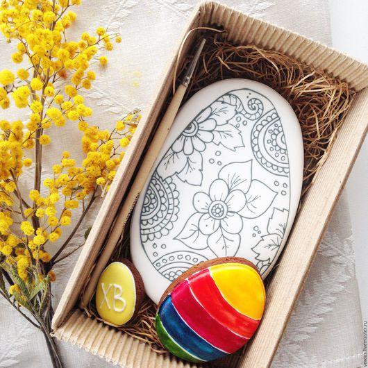 Кулинарные сувениры ручной работы. Ярмарка Мастеров - ручная работа. Купить Пряничная раскраска Яйцо. Handmade. Комбинированный, подарок