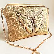 Сумки и аксессуары handmade. Livemaster - original item Handbag clutch bag Butterfly gold. Handmade.