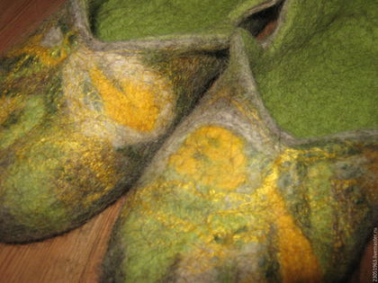 Обувь ручной работы. Ярмарка Мастеров - ручная работа. Купить Тапочки из шерсти. Handmade. Тапочки ручной работы, шерсть 100%