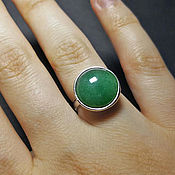 Украшения handmade. Livemaster - original item Green Stone Ring  Aventurine Silver Ring. Handmade.