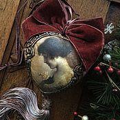 """Подарки ручной работы. Ярмарка Мастеров - ручная работа """"Старый фотоальбом. Незнакомка с розой"""" Интерьерное сердце.. Handmade."""