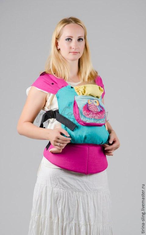 """Слинги ручной работы. Ярмарка Мастеров - ручная работа. Купить Эргономичный рюкзак """"Совушка-балерина"""". Handmade. Разноцветный, мама и малыш"""