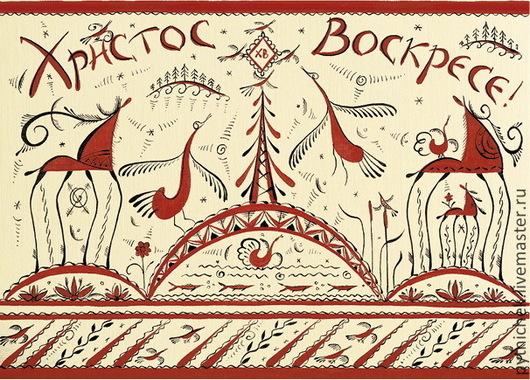 Открытки к Пасхе ручной работы. Ярмарка Мастеров - ручная работа. Купить Пасхальная открытка. Handmade. Рыжий, пасхальный подарок