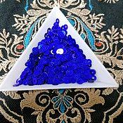 Материалы для творчества handmade. Livemaster - original item India sequins 4mm blue. Handmade.