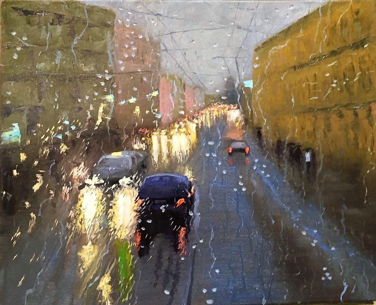 Картина маслом Дождливый день, Картины, Белгород,  Фото №1