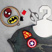Украшения ручной работы. Ярмарка Мастеров - ручная работа Комплект из четырех брошей Супергерои. Handmade.