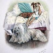 Картины и панно handmade. Livemaster - original item Dogs.. Handmade.