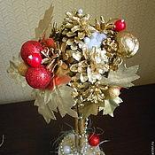 """Подарки к праздникам ручной работы. Ярмарка Мастеров - ручная работа Топиарий """"Новогоднее настроение"""". Handmade."""