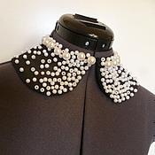 Аксессуары handmade. Livemaster - original item Removable collar XS white beads. Handmade.