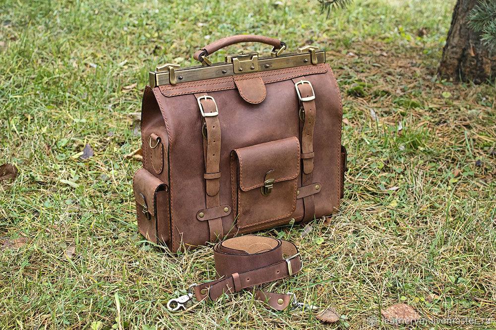 """""""Брокер"""" - портфель кожаный, коричневый, ручной работы, Портфель, Санкт-Петербург,  Фото №1"""