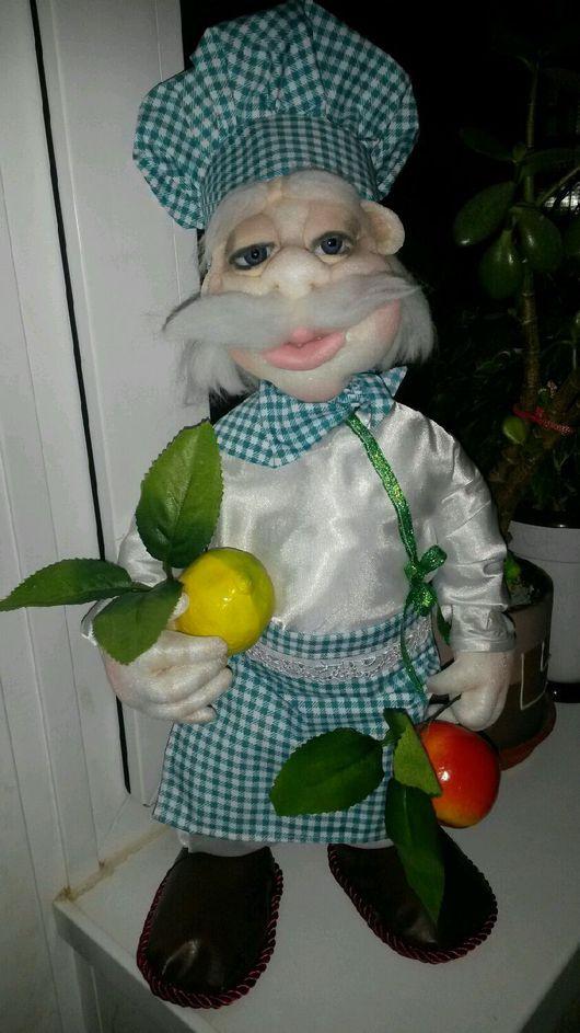 Народные куклы ручной работы. Ярмарка Мастеров - ручная работа. Купить Повар. Handmade. Капрон, сказочные персонажи, кожа искусственная