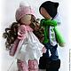 Коллекционные куклы ручной работы. Влюбленная пара. **АSSORTIES** от Людмилы Сухановой. Интернет-магазин Ярмарка Мастеров. Белый цвет, подарок