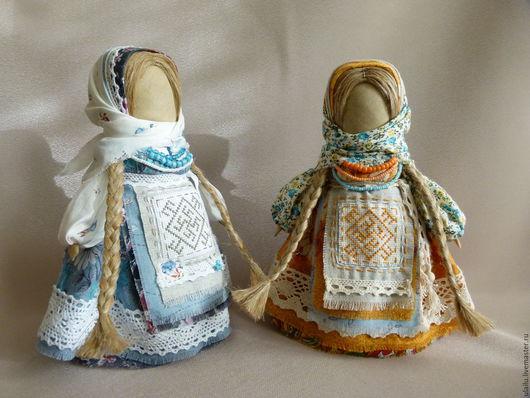 Народные куклы ручной работы. Ярмарка Мастеров - ручная работа. Купить Одолень-трава и Цветок Папоротника. Handmade. Комбинированный, шпагат