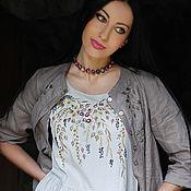 "Одежда handmade. Livemaster - original item Вышитый женский комплект - сарафан и льняная рубаха ""Серенада лета"". Handmade."