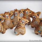 Куклы и игрушки ручной работы. Ярмарка Мастеров - ручная работа Кофейные позитивчики: Собаки. Handmade.