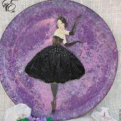 Посуда handmade. Livemaster - original item Plate,Black Swan,. Handmade.