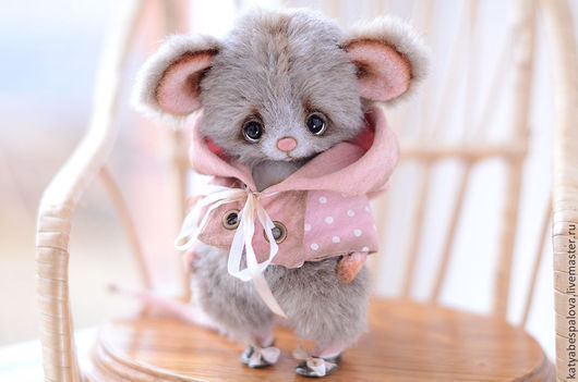 Мишки Тедди ручной работы. Ярмарка Мастеров - ручная работа. Купить Мышка Шуша. Handmade. Мышка, авторская игрушка, шерсть
