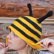 """Для дома и интерьера ручной работы. Ярмарка Мастеров - ручная работа Шапка для бани и сауны """"Пчелка"""". Handmade."""