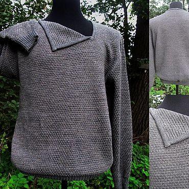 Clothing handmade. Livemaster - original item Natural linen Men`s jumper