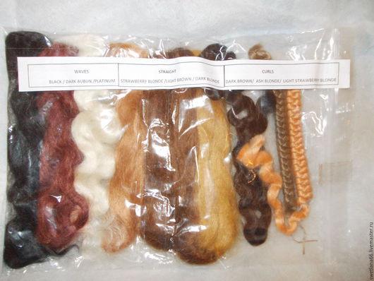 Куклы и игрушки ручной работы. Ярмарка Мастеров - ручная работа. Купить набор  мохера  натурального 60 гр.. Handmade. Волосы