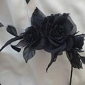 """Украшения ручной работы. Ярмарка Мастеров - ручная работа Ободок  """"Черная роза"""". Handmade."""