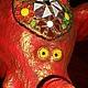 """Мебель ручной работы. Стол """" Большой красный слон """".. Некрасова Катя. Ярмарка Мастеров. Столик, стеклянная мозаика"""
