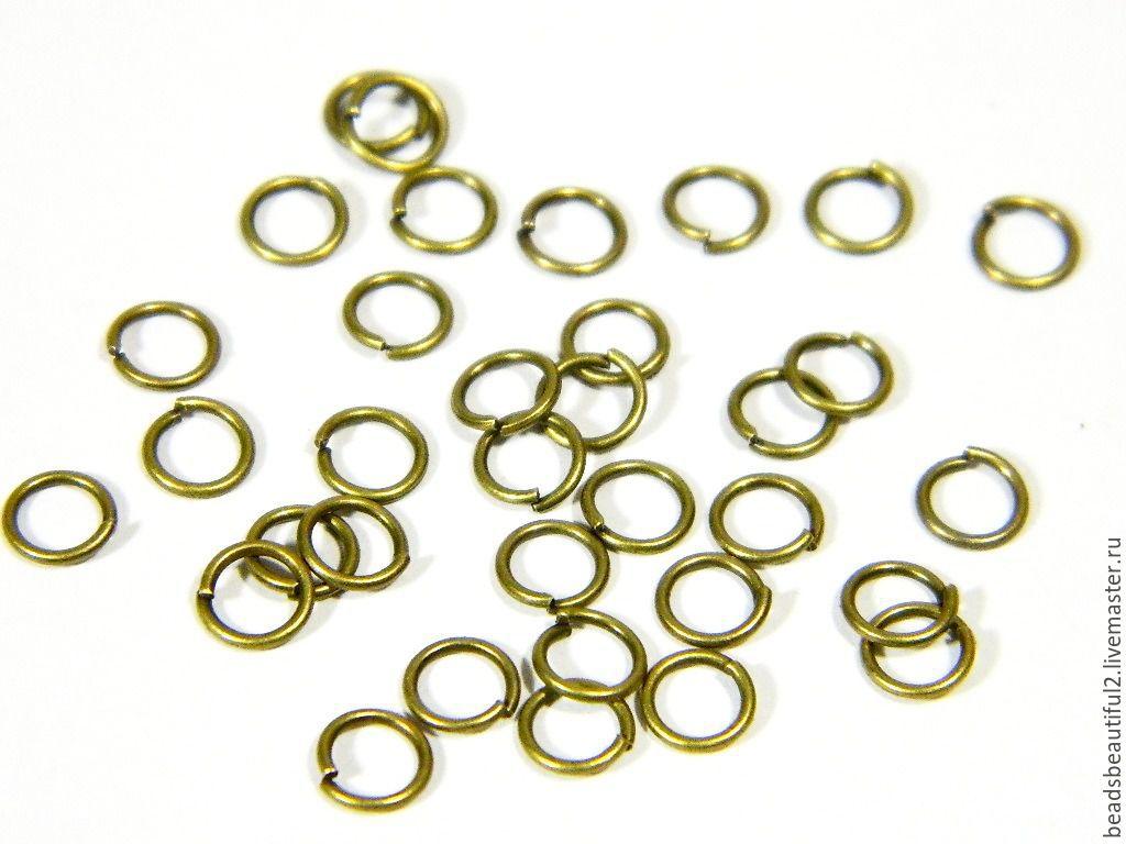 Ring coupling, color bronze, 5 mm. 10 PCs, Accessories4, Saratov,  Фото №1