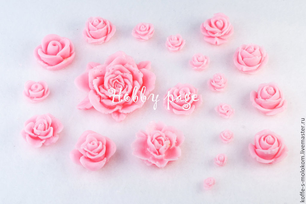 Silicone molds for soap Roses, Form, Moscow,  Фото №1