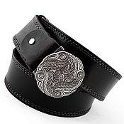 Аксессуары ручной работы. Ярмарка Мастеров - ручная работа Пряжка для ремня серебро, кожаный ремень, мужской ремень. Handmade.