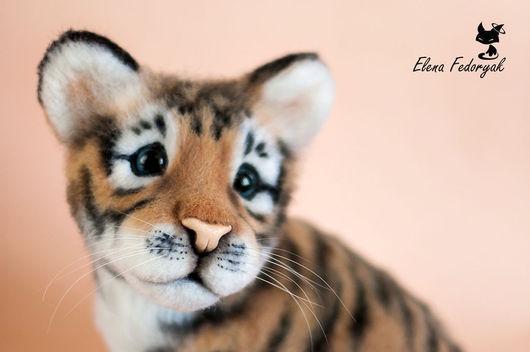 Игрушки животные, ручной работы. Ярмарка Мастеров - ручная работа. Купить тигренок Скай. Handmade. Тигр, котенок