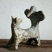 Для дома и интерьера handmade. Livemaster - original item Fox and Woodpecker Figurine. Handmade.