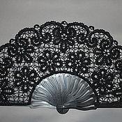 """Аксессуары handmade. Livemaster - original item Fan """"Chamomile mystery"""". Handmade."""