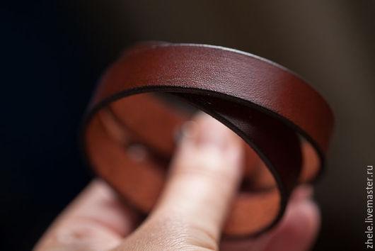Браслеты ручной работы. Ярмарка Мастеров - ручная работа. Купить Кожаный браслет. Handmade. Коричневый