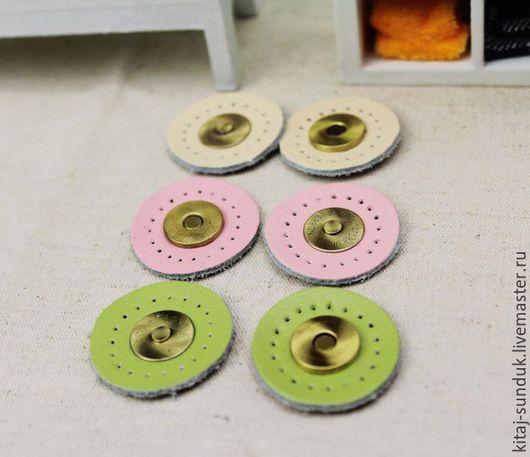 Другие виды рукоделия ручной работы. Ярмарка Мастеров - ручная работа. Купить Застежки магнитные кожаные для сумок. Handmade.