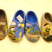 """Обувь ручной работы. Ярмарка Мастеров - ручная работа Тапки мужские """"Удачная рыбалка"""". Handmade."""