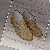Обувь ручной работы handmade. Livemaster - original item Zapatos de ganchillo para la calle. De punto calzado. Color beige.. Handmade.