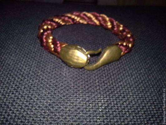 """Браслеты ручной работы. Ярмарка Мастеров - ручная работа. Купить браслет """"анаконда"""". Handmade. Шнур, змея, браслет, атласный шнур"""